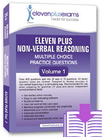 Eleven Plus Exams - Non Verbal Reasoning - Volume 1 - DOWNLOAD ONLY